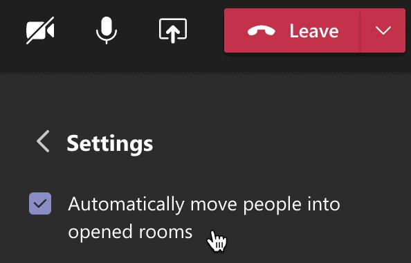 automatisch mensen naar rooms sturen