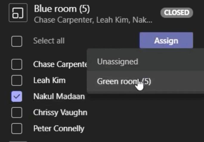 deelnemer aan een andere kamer toewijzen