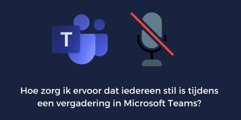 vergadering in microsoft teams
