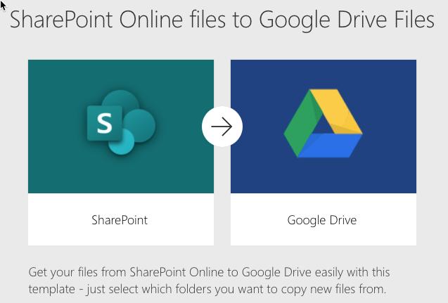 Bestanden van SharePoint opslaan op google