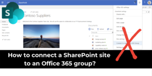 SharePoint connect office 365 group