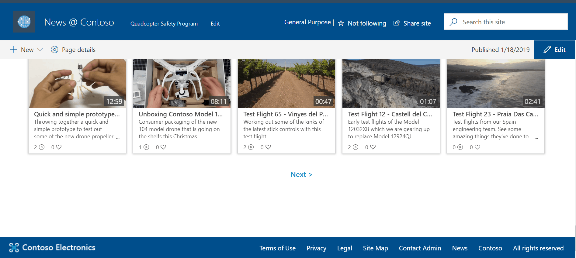 footer SharePoint