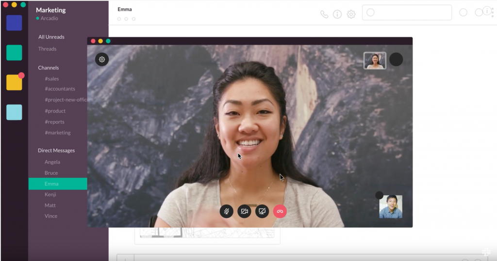 video call slack